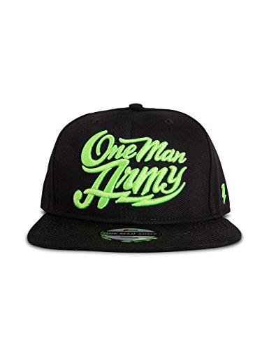 ONE MAN ARMY Snapback Cap, Basecap mit Neon 3D Stick, schwarz, Größenverstellbar