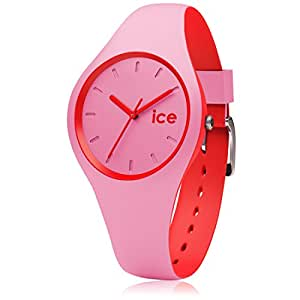 ice watch ice duo pink red rosa damenuhr mit. Black Bedroom Furniture Sets. Home Design Ideas