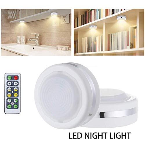 6 STÜCKE Monochrom Lichter LED Fernbedienung Nachtlicht, Schrank Korridor Lampe für Home Hotel Schlafzimmer