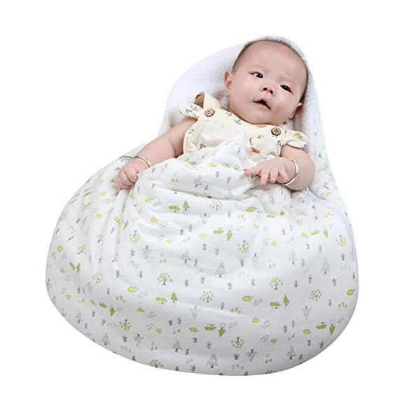 Miyanuby Saco de Dormir para Bebés, Huevos Lindos Dulce y Cálido Algodón Nido del Ángel Nido del Bebé Niña y Niño, Manta para Bebé Recién Nacido 0 a 6 Meses
