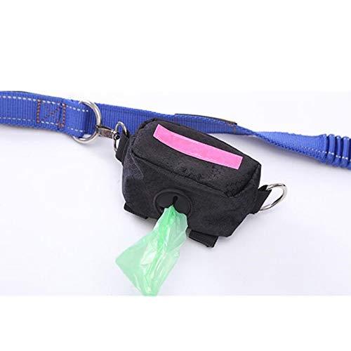 GCSEY Hund Poo Bag Inhaber/Abfall Poop Bag Dispenser-Portable Outdoor Pet Puppy Cat Abholung Müllsack Hüfttasche Veranstalter, Mit Einem Verstellbaren Gürtel,Rosered -