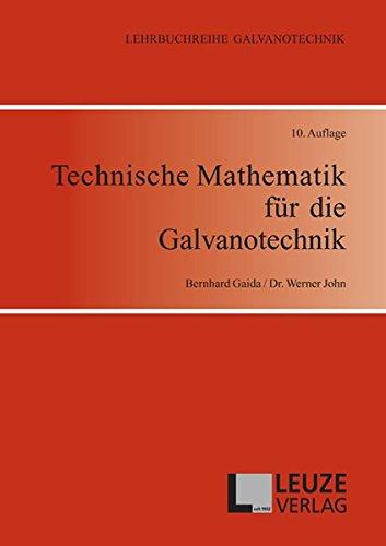 Technische Mathematik für die Galvanotechnik