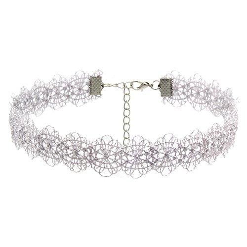 Bazhahei Halskette 8 Corduroy Lace Halskette Set Halsreif 8-teilig Samt Stretch Klassisches Tattoo Gothic Spitze L Bunt