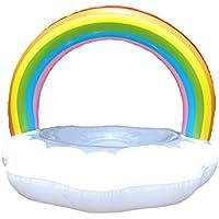 Gereton Anillo de Baño en Forma de Nube Hinchable Multicolor con de Las Válvulas de Alta Velocidad Gran Salón de Balsa en Tubo de Flotador, M