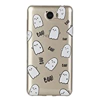 For Huawei Y6II Compact Case [with Free Screen Protector],KwapoŽ Ultra Slim Transparent Soft TPU Silicone Back Rubber Bumper Clear Creative Pattern Design Flexible Protector Cover Case for Apple Huawei Y6II Compact - Expression