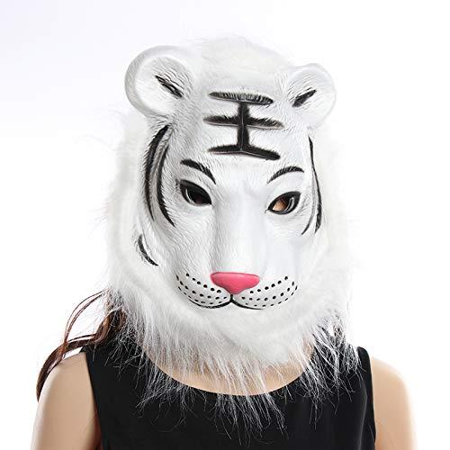 Kostüm Cosplay Und Bunny Tiger - WULIHONG-MaskeCosplay Halloween Kostüm Realistische Pelzmähne Latex Maske Gruseltier Tiger / Löwe / AFFEA3 Tiger