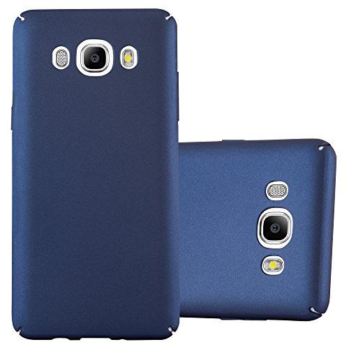 Preisvergleich Produktbild Cadorabo Hülle für Samsung Galaxy J5 2016 (6) - Hülle in Metall BLAU – Hardcase Handyhülle im Matt Metal Design - Schutzhülle Bumper Back Case Cover