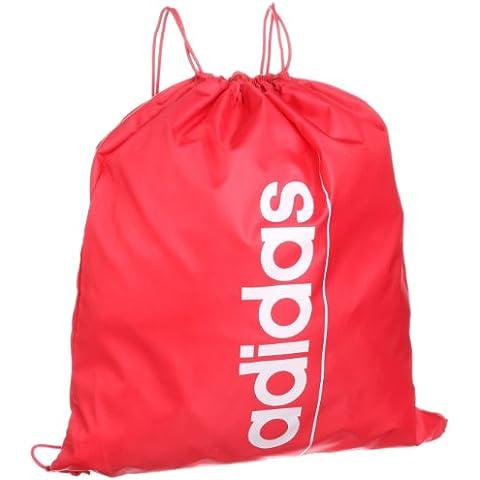 Adidas Sport borsa sacchetto babysmiles Gym Bag Linear Essential School Bag borsa sportiva Shoe Bag draw string Bag Red/White Z26361 New