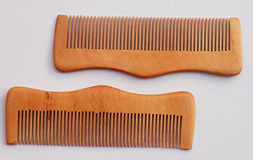 Preisvergleich Produktbild 5 x Handarbeit Neem Holz Kamm Anti Schuppen,  ideal für Kopfhaut und Haar Gesundheit