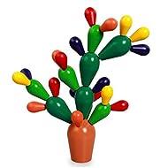 Forma de árbol Bloques de construcción Colorido Madera Juguetes de Educación Infantil Mejorar la inteligencia Seguro No tóxico Regalo , picture color