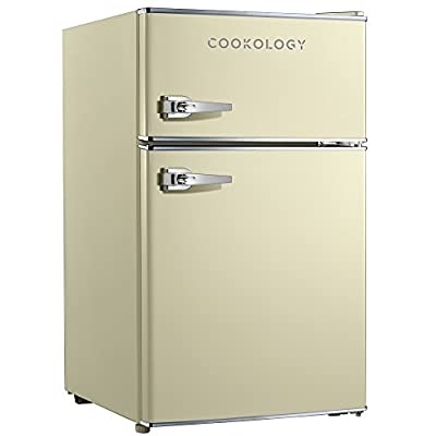 Cookology RETRO86 1950's Undercounter Fridge Freezer, 50cm wide