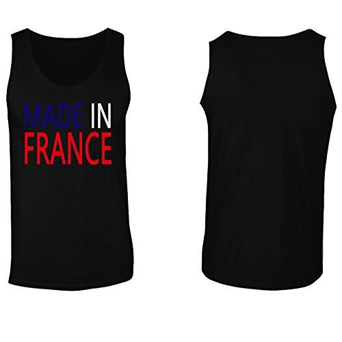 Made in France divertenti della novità Nuovo canotta da uomo i16mt Black