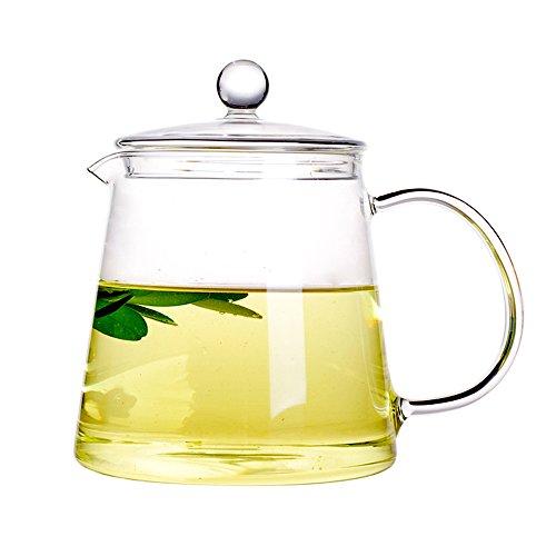 Keramik Story hohen Borosilikat Glas Teekannen, Glas teakettles, Herd Safe, 1100ml -
