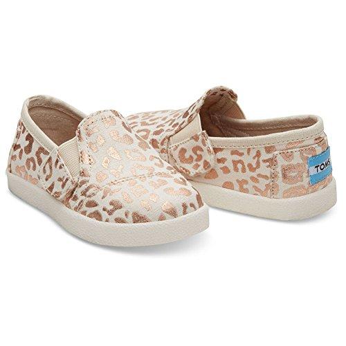 TOMS Unisex-Child-Schuhe in Schwarz Chambray, Pink - Natural Cheetah Foil - Größe: 28 EU M Kleines Art