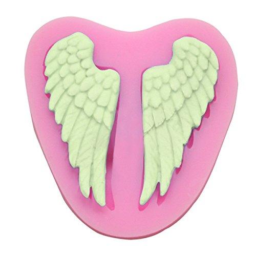 lameida Kuchen Lebensmittel Silikon Fondant Angel 's Wings Form Muffin Schokolade Sweet Kuchen Biscuit Jelly Ice Sugarcraft Seife Form DIY Pop Maker Backen Dekorieren Werkzeug für Home Kinder