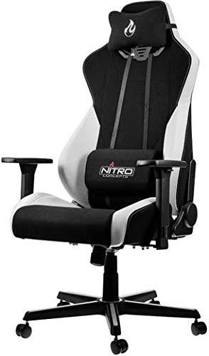 NITRO CONCEPTS S300 Gamingstuhl - Bürostuhl - Schreibtischstuhl - Stoffbezug - Radiant White...