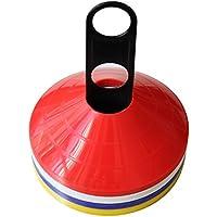 Asixx Markierungsh/ütchen Farbe: Rot, Gr/ün, Gelb Orange, Blau Markierungsteller Set aus PE f/ür Fussball Geeignet f/ür Das Markieren von Grids und Agility-Kursen,10 St/ück