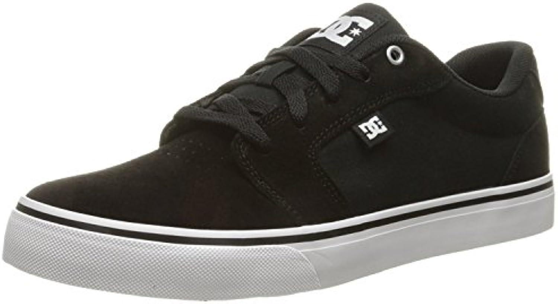 DC Men'S Anvil Skateboarding Shoe, Negro/Blanco/Negro, 42.5 EU/8.5 UK