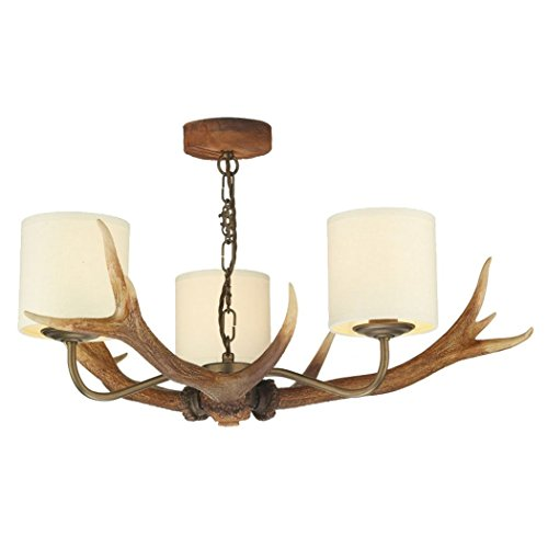 Antler chandelier amazon antler 3 light candle style chandelier finish highland rustic mozeypictures Image collections