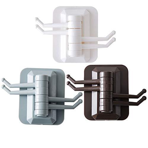 Lagerregale Und Kästen Klebstoff Haken Wasserdichte Heavy Duty Handtuch Haken Home Dekorative für hängende Wandhalterung Handtuch Schlüssel Robe Coat , 3PCS für Schlafzimmer Badezimmer -