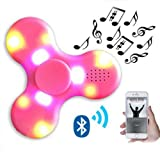 #8: Sajni Creations Rechargeable Bluetooth Fidget Spinner Speaker LED Light Music Hand Spinner with USB Cable Stress Relief Toy...