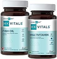 HealthKart Omega ( Fish Oil + Multivitamin for Men & Women , 60 capsules e