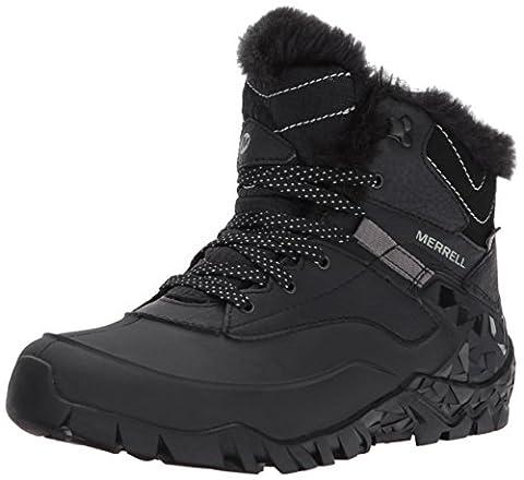 Merrell Aurora 6 Ice+ Waterproof Damen Trekking- & Wanderschuhe, Schwarz (BlackBlack), 37