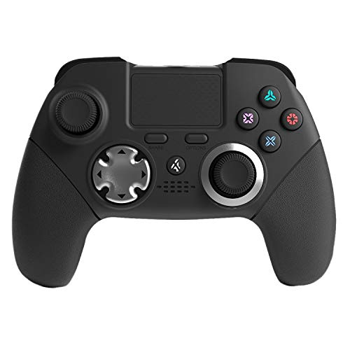 PS4 Elite-Controller, Modded Custom Programm, 6 Achsen Sensor, Dual Vibration Elite PS4/PS3 Wireless Game Controller Joystick mit Rückenpaddeln und L3 R3 Tasten für FPS-Spiele, WWII, Destiny, Fortnite - Custom-ps4-controller