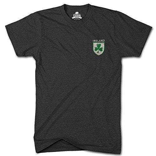 FunkyShirt Irland trybull Rugby Shamrock Logo bestickt TShirt Herren 6Nations T Shirt, Schwarz, IRE-TR3-TEE-BLACK-MENS-XXL (Bestickt Rugby-shirts)