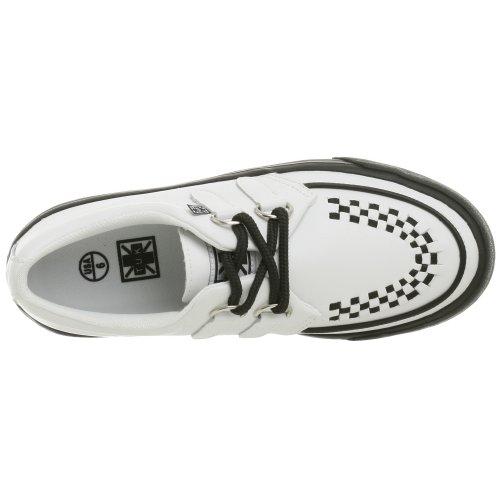 T.U.K.2 Ring Creeper - Sneaker unisex adulto Bianco (White/Black Interlace)
