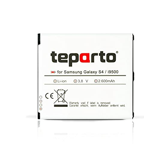 teparto Akku für Samsung Galaxy S4 GT-I9500 / GT-I9505 ersetzt B600BE