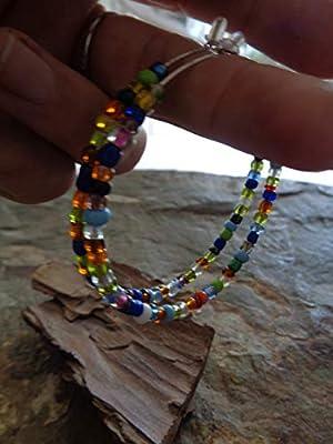 ? GREAT COLOR SHAKIRA CREOLS EN ARGENT ? Boucles d'oreilles délicates & perles de verre