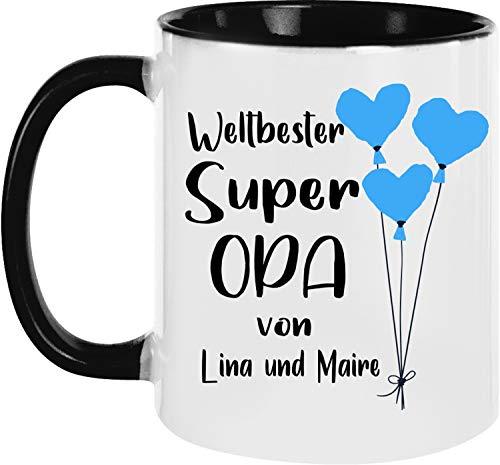 EZYshirt® Weltbester Super Opa Tasse Geschenk für den besten Opa Kaffeetasse Kaffeebecher