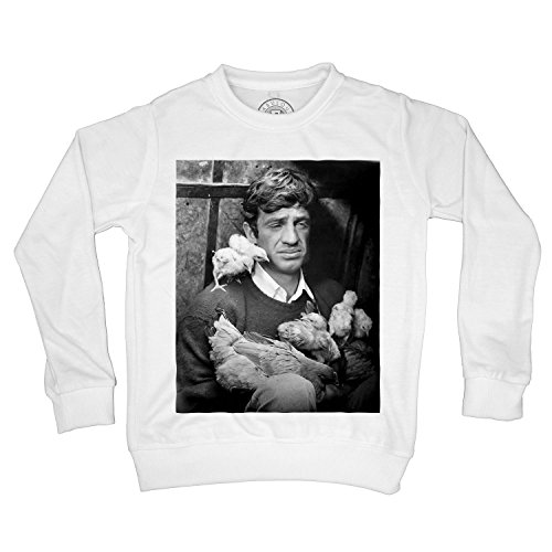 Kids Sweatshirt Jean Paul Belmondo cociara The Two Women Black and White Film