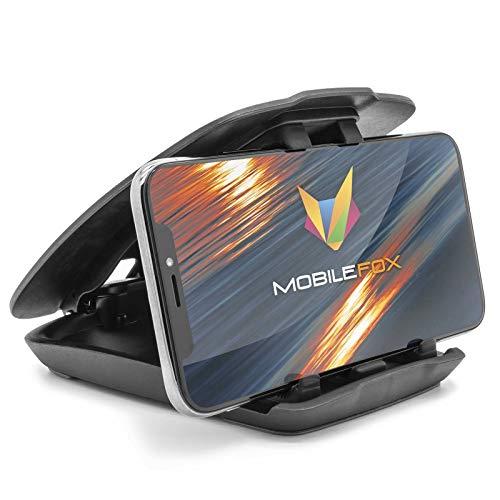 Mobilefox Auto Handy Halterung KFZ Armaturenbrett Klapp Halter PKW für Huawei P30 P20 Pro Lite P10 P9 P8 Mate 10 20