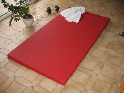 Sportmatte - 100 cm x 200 cm x 5 cm mit Kunstlederbezug in verschiedenen Farben (Chorm 3333)