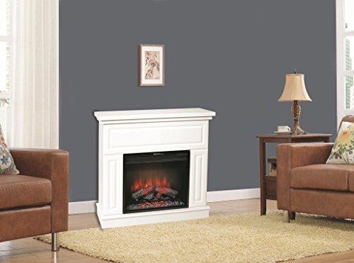 Classic Flame Wunderschöner Wandkamin Modell Kemi weiss mit LED