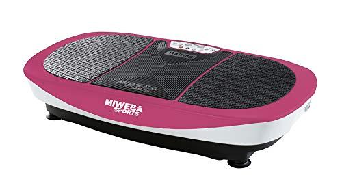 Miweba Sports Fitness Vibrationsplatte MV200 - 3 Vibrationsmodi - Horizontal - Vertikal - Oszillierend - 400 Watt (Pink)