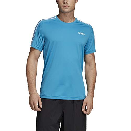 adidas Herren Design 2 Move 3-Streifen T-Shirt, Shock Cyan, 2XL
