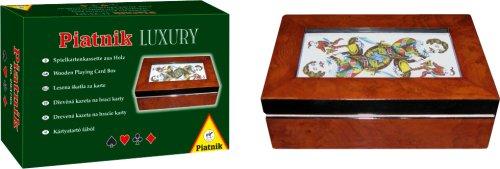 Piatnik 2937 - Luxuskassette Holz mit Glas Bridge, Poker