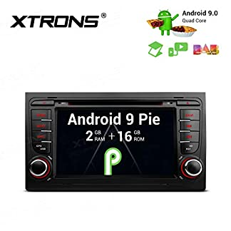 XTRONS-7-Android90-Autoradio-mit-Touchscreen-Quad-Core-DVD-Player-Autostereo-Full-RCA-4G-Bluetooth50-2GB-RAM-16GB-ROM-DAB-OBD2-Car-Auto-Play-TPMS-FR-Audi-A4S4RS4SEAT-Exeo