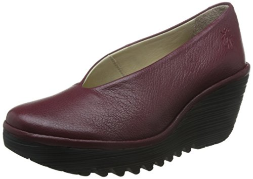 Fly London Yaz Mousse, Women's Court Shoes, Cordoba Red 3 UK