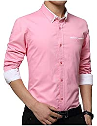 IndoPrimo Men's Latest Cotton Casual Shirt Full Sleeve Formal Shirt for Men