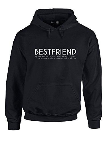 Bestfriend, Gedruckt Hoody - Pullover - Schwarz/Weiß S = 86-91 cm