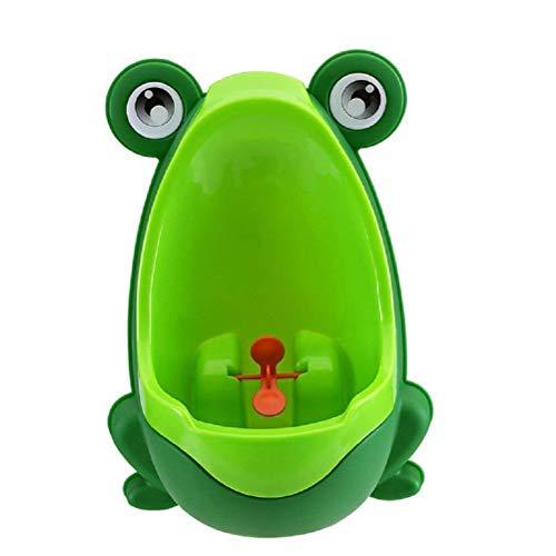Vasino WC, bambino orinatoio orinatoio rana pee Trainer per allenamento bambini Boy pee Trainer bagno (verde)