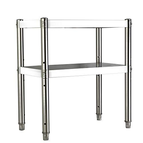 QINCH Home 2 Schicht Topf Rack Edelstahl Schrank mikrowelle Rack lagerung Schicht Regal Boden Hause multifunktions (Size : A)