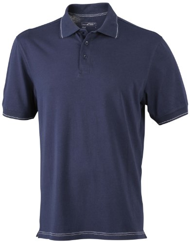 James & Nicholson Herren Poloshirt Navy/White