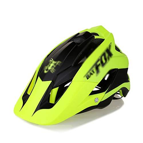CXQBYNN Fahrradhelm, ultraleichter Mountainbike-Helm für Damen und Herren, Jugendreiten, Verstellbarer Riemen und Zifferblatt - leichtes Gesamtprofil (Color : Yellow)