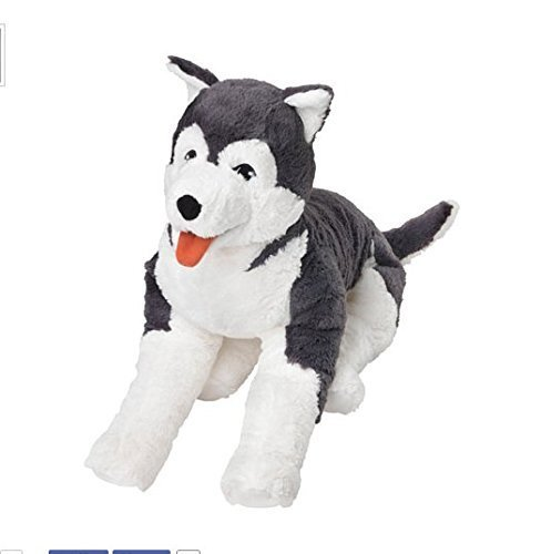 Ikea Livlig Soft Toy Husky Dog Siberian Stuffed Alaskan Malamute Eskimo Large by Livlig