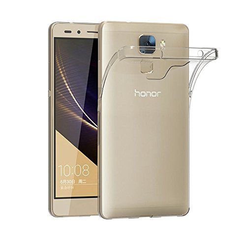 AICEK Coque Honor 7, Etui Silicone Gel Honor 7 Housse Antichoc Honor 7 Transparente Souple Coque de Protection pour Huawei Honor 7(5.2 Pouces)